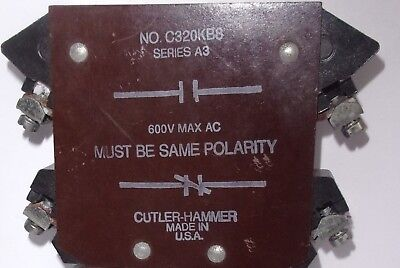 Eaton Cutler Hammer C320Kb8  Base Auxiliary Contact Used Clean & Tetsed