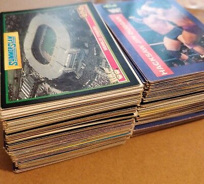 Over 300 Job Lot Of CLASSIC Vintage WWF Wrestling Series 1 & 2 Trading Cards