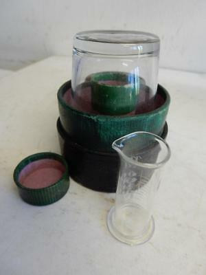 really old medicine glass and minim measure