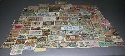Lot of 100 Vintage Mixed Foreign World Currency Paper Money