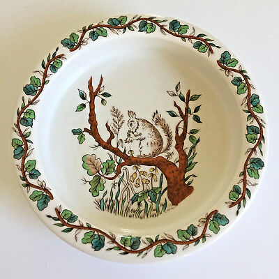 """Johnson Bros Tiffany & CO """"Squirrel"""" Baby/Child's Dish, Made in England, EC"""