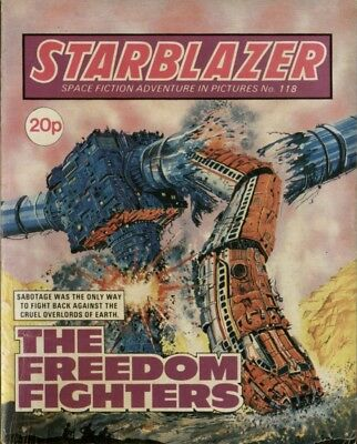 The Freedom Fighters,starblazer Space Fiction Adventure In Pictures,no.118,1984