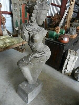 Stone  Carving Apsara  ( Large Piece) Statue