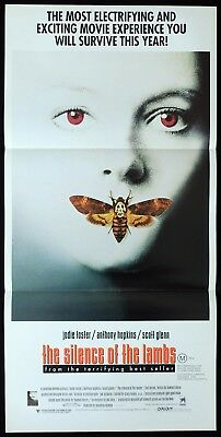SILENCE OF THE LAMBS Original Daybill Movie poster ANTHONY HOPKINS Jodie Foster