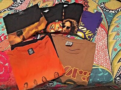 Nice Lot Of Six Very Gently Used Xl Classic Rock N' Roll T-Shirts!