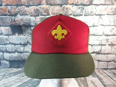 Boy Scouts Adjustable Baseball Hat Twill Cap USA Made Snapback Vintage BSA