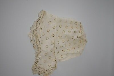 Victorian Cotton and Macrame Baby Bonnet