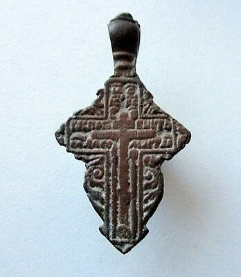 Ancient Old Believer Bronze Cross Female ( 04-0516)