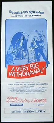A MAN A WOMAN AND A BANK 79 Very Big Withdrawal Daybill Movie poster
