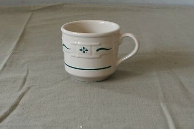 """Longaberger Pottery Heritage Green Classic Woven Traditions 3"""" Flat Cup"""