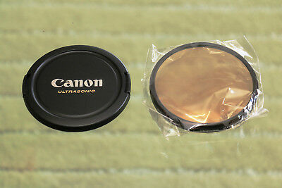Canon OEM NEW 72mm lens cap and NEW 72mm Agfaphoto warming filter