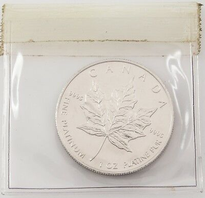 1997 Platinum Canada Maple Leaf 1 oz $50 - BU