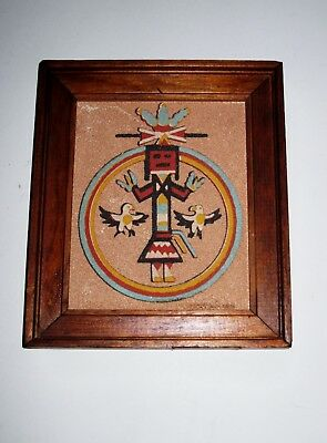 "Southwest Sand Art ""Circle of Strength ""6 X 7"" Framed-Rainbow Way Ltd. USA"