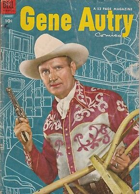 1954 # 90 Gene Autry Photo Cover Western Dell Vintage Comic Book Golden Age