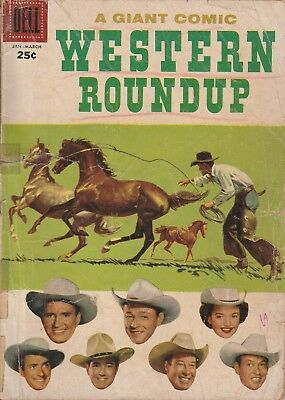 1957 # 17 WESTERN ROUNDUP 96 PAGES Dell Vintage Comic Book Silver Age