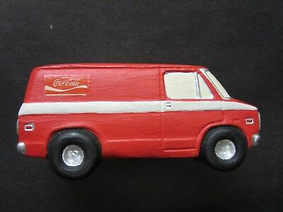 Hand Painted Ceramic Chevy Chevrolet Van Coke Coca Cola HO Scale