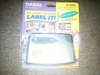 CASIO KL-60SR-L Compact EZ-Label Printer with Starter Tape (BRAND NEW, SEALED)