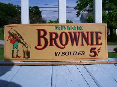 Brownie Chocolate Soda Sign 21In. Some Chips, Pepsi, Coke, Root Beer