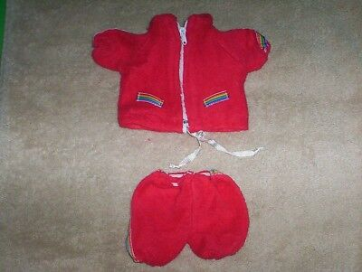 "Vtg Snoopy Red Jogging Outfit for 10"" Plush Dog Clothes Another Determined Prod"