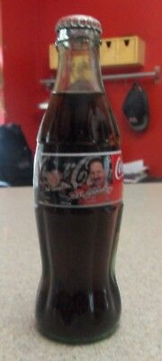 Unopened 1996 Coca Cola 8 Oz Bottle Nascar Dale Earnhardt & Dale Earnhardt Jr