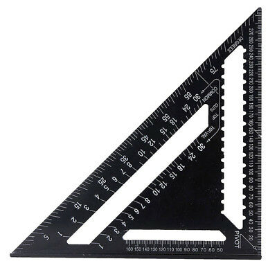 "Aluminum Alloy Speed Square 12"" Combination Carpenter's Protractor Ruler New UK"