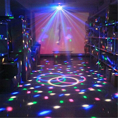 Auto Crystal Magic Strobe Stage Light LED Projector Disco DJ Party Lighting Lamp