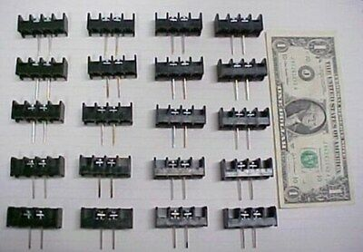 20 Thomas & Betts Terminal Blocks PCB Solder Mount 300V 25 Amp Screw Terminal