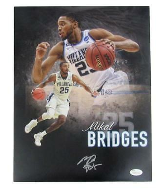 3c33a94fdad Mikal Bridges Villanova Wildcats Autographed Signed 11x14 Photo JSA 135969