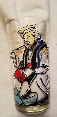VTG Armour Peanut Butter Glass Nursery Rhyme OLD KING COLE, pictured with rhyme