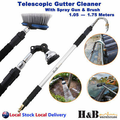 Silver Telescopic Gutter Cleaner Cleaning Tool Wand Multi purpose EOFY promotion