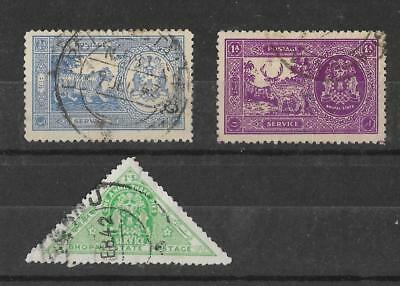Bhopal, 1940 & 41 Officials, used