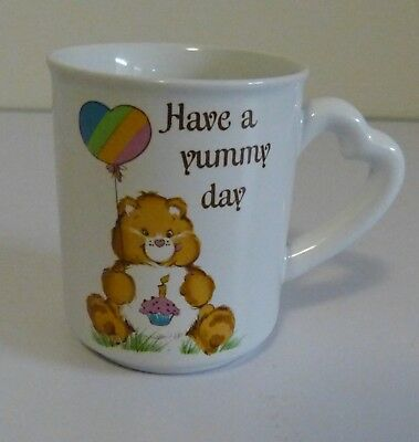 "Vintage Care Bear Stoneware Mug ""have A Yummy Day"" - 1983 - American Greetings"