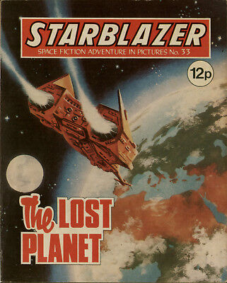 The Lost Planet,starblazer Space Fiction Adventure In Pictures,no.33,1980