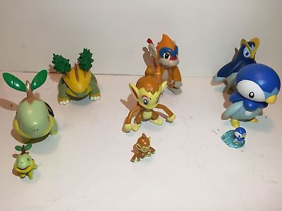 Pokemon Figures Sinnoh Starters Turtwig, Piplup, Chimchar lot