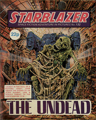 The Undead,starblazer Space Fiction Adventure In Pictures,no.132,1984