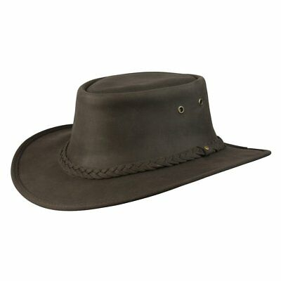 Conner Brown Lone Wolf Crushable Leather Western Cowboy Hat