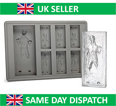 UK Seller Star Wars Han Solo Mould Silicone Ice Cube Tray Cookie Cake Whisky