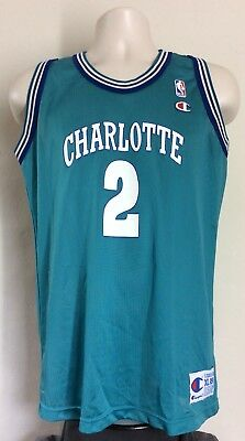 VINTAGE 90S CHAMPION NBA Kids Jersey Charlotte Hornets Larry Johnson ... ad5a67850