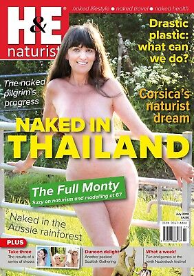 H&E naturist July 2018 magazine nudist health efficiency