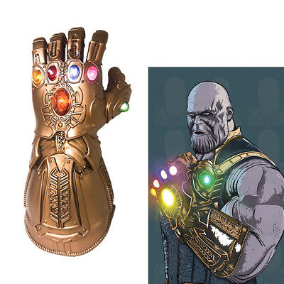 Avengers Thanos Cosplay Gloves LED Light Costume Props Halloween Adult Cool 2018