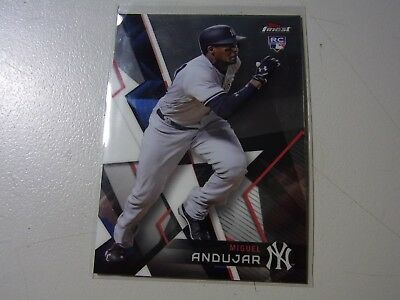 2018 Topps Finest Base Rookie Card Of MIGUEL Andujar New York Yankees #90