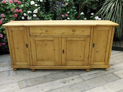BIG! OLD 2m ANTIQUE PINE DRESSER BASE/SIDEBOARD/CUPBOARD/KITCHEN. WE DELIVER!