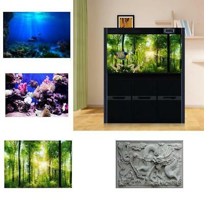 HD 3D Aquarium Fish Tank Background Poster PVC Landscape Decorations Adhesive