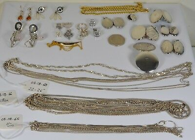 job lot sale-able sterling Silver jewellery NOT scrap resale 202.5 g all sorts