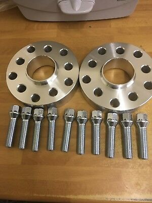 VW Passat Caddy Hubcentric 5 hole 30mm wheel spacer kit, Tapered Bolts 5x100/112