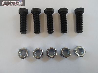 """1/2 UNF x 1.1/2"""" Bolts and Full Nuts pack of 5 Set Screws Fully Threaded S/C"""