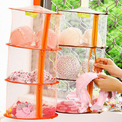3 Layers Hanging Drying Shelf Rack Curing Dishes Mesh Dryer Fold Drying Net Gift