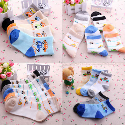 5 Pairs Baby Boy Girl Comfortable Cotton Socks NewBorn Infant Kids Soft Socks AU