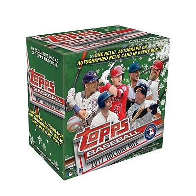 MLB baseball cards box: 2017 Topps Holiday Baseball Mega Box ******