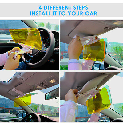Day Night Flip Down Car Sun Visor Anti-Glare Shield UV Block HD Driving 5bc94cb325a